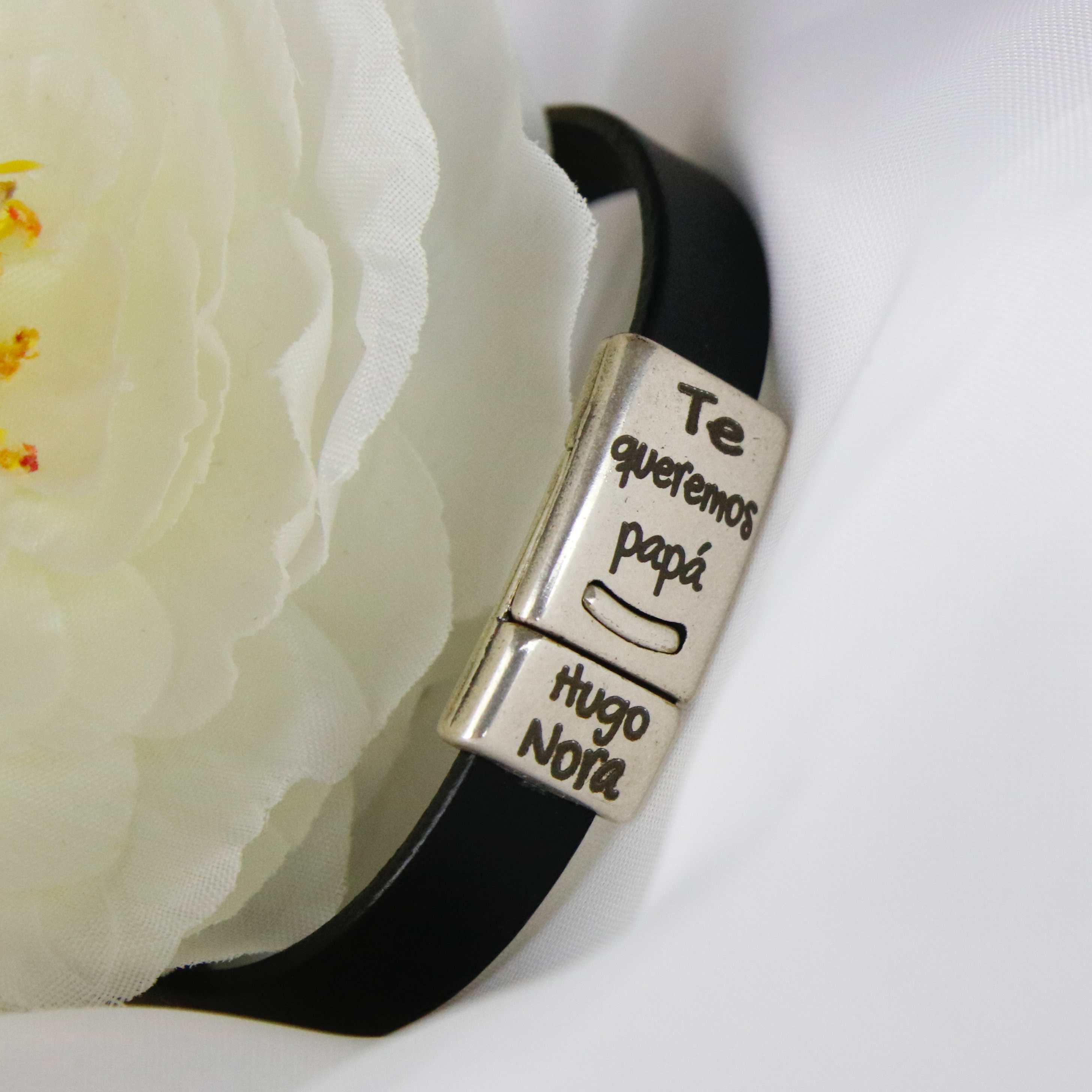 pulsera personalizada de cuero