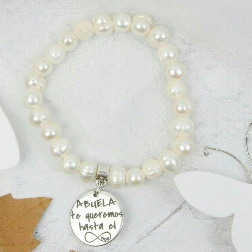 pulsera personalizada perlas