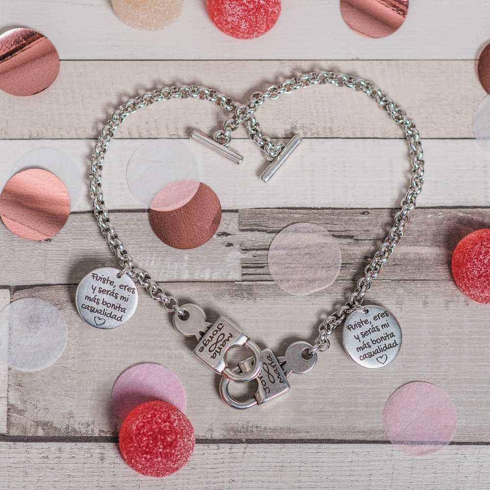 Conjunto pulseras personalizadas candado