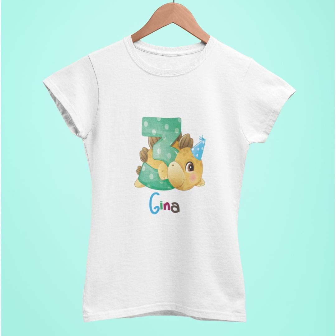 Camiseta personalizada cumpleaños blanca