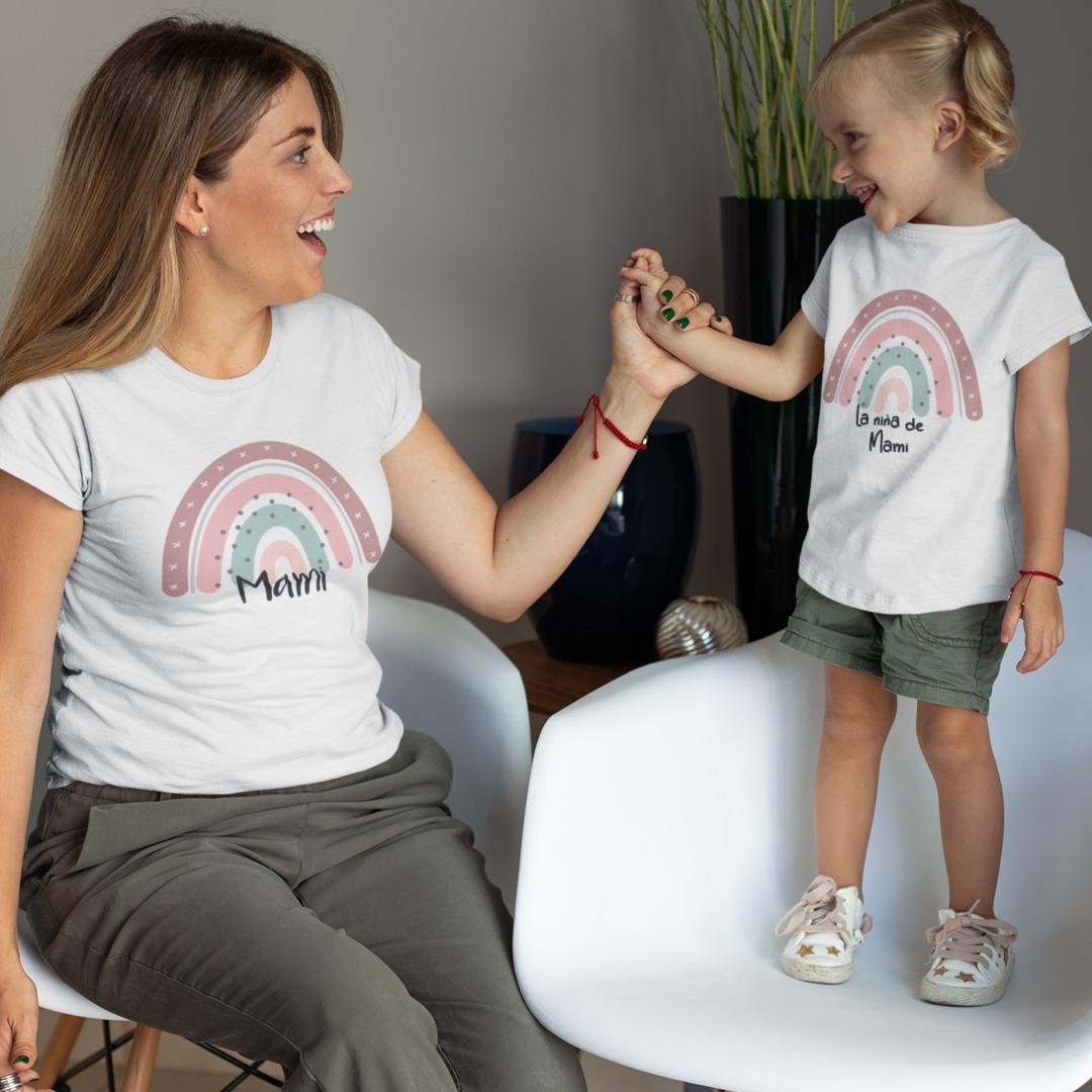 Conjunto camisetas mami niña aroc iris