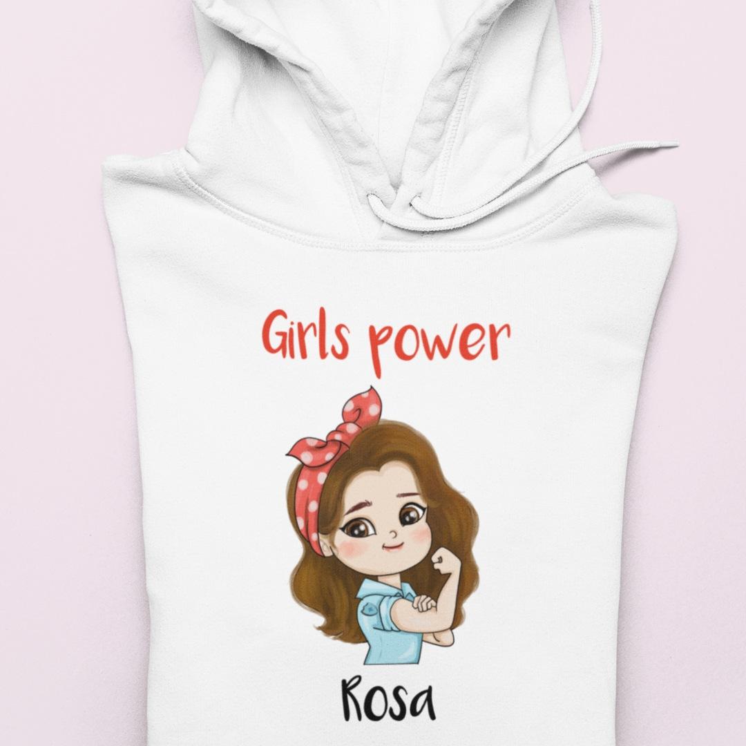 Sudadera niña girls power 1