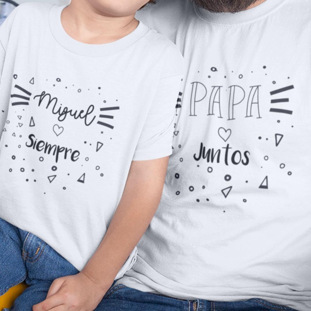 Conjunto camisetas personalizadas siempre juntos