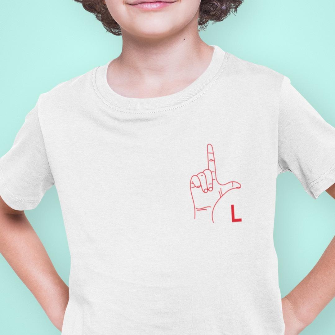 Camiseta lengua de los signos para niños