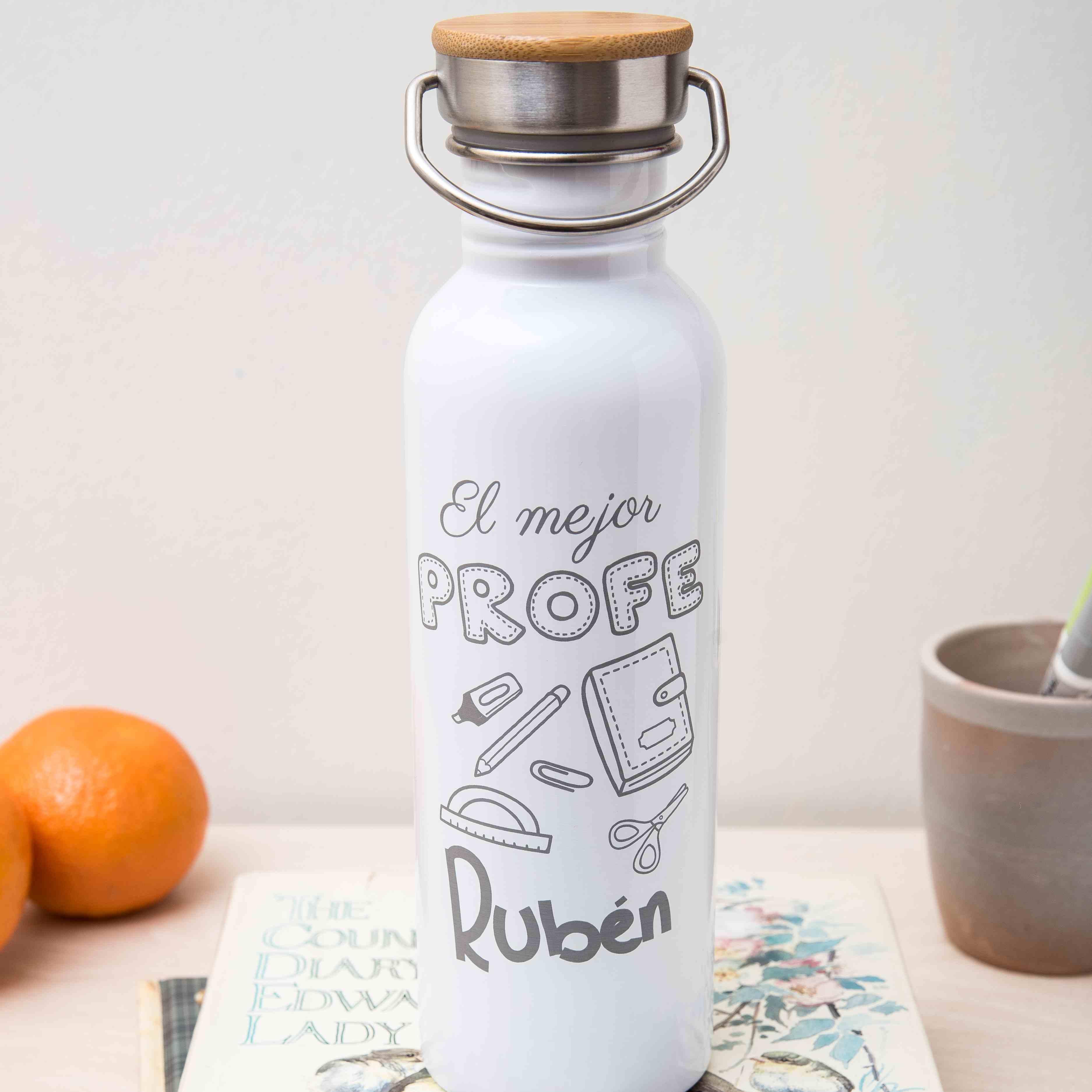 botella personalizada el mejor profe