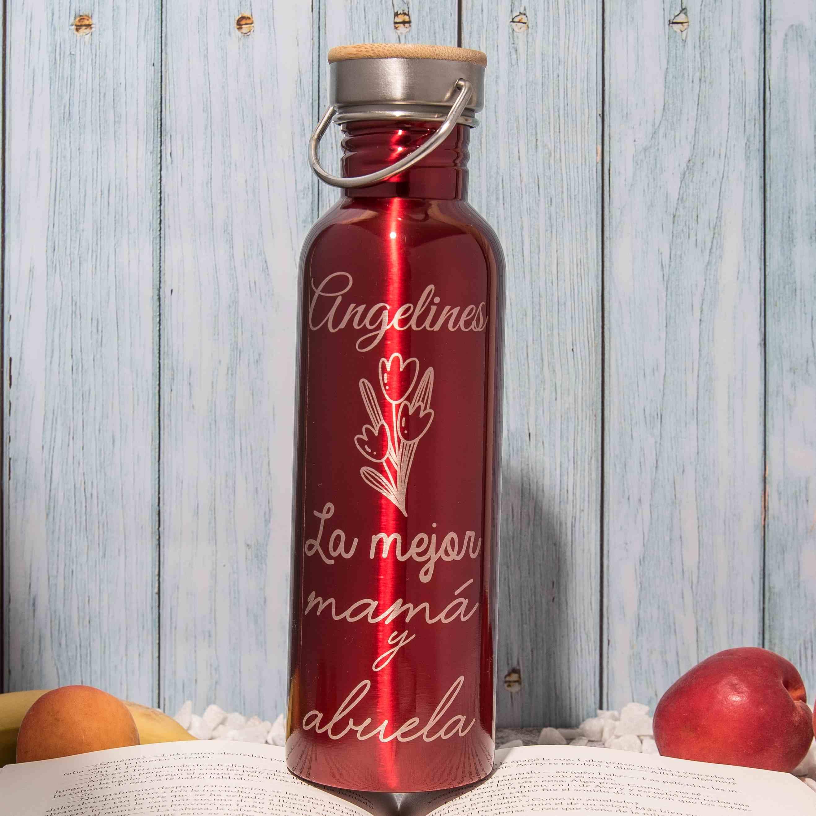 botella personalizada abuela