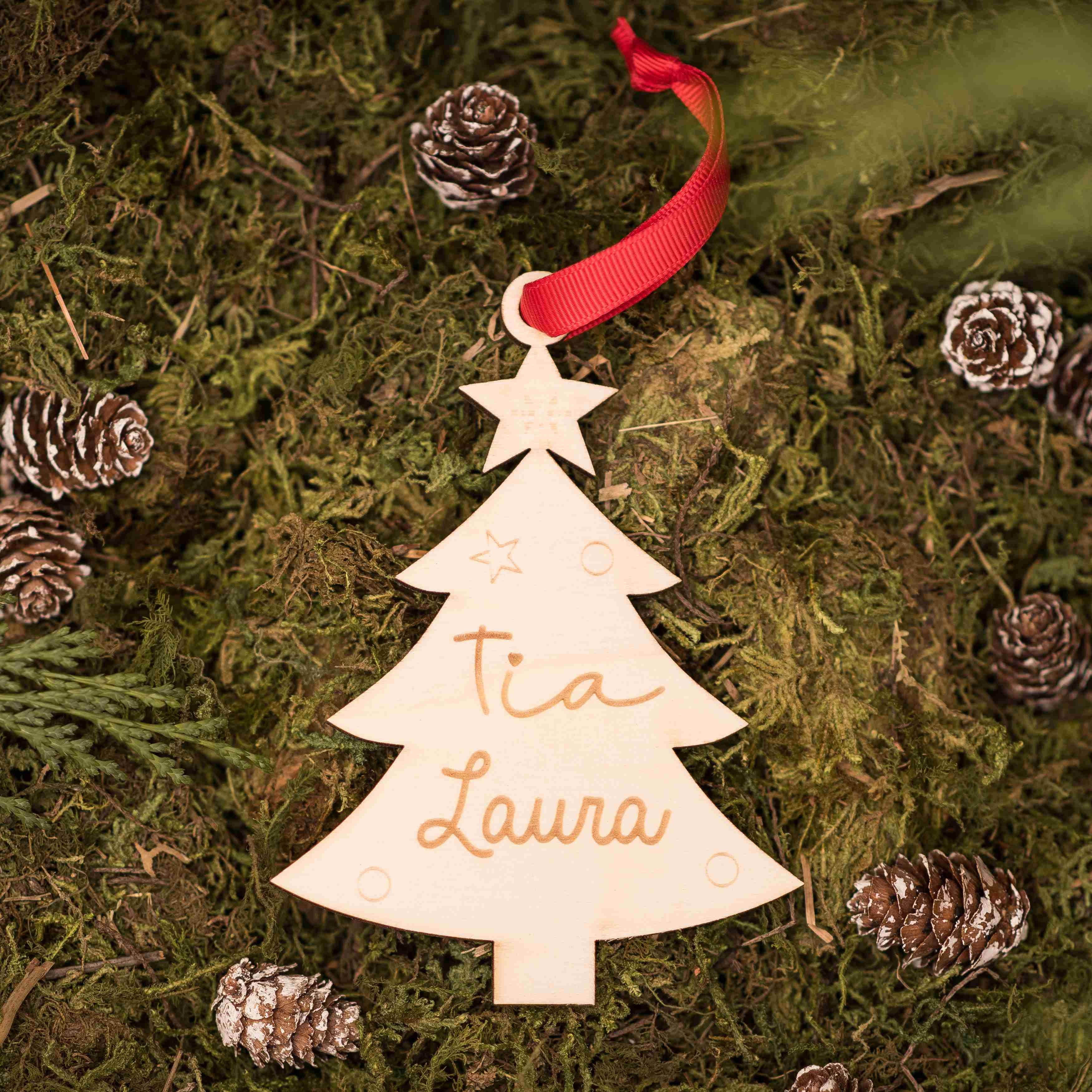 Árbol navidad grabado personalizado